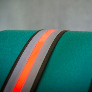 OLED stripes for textile integration